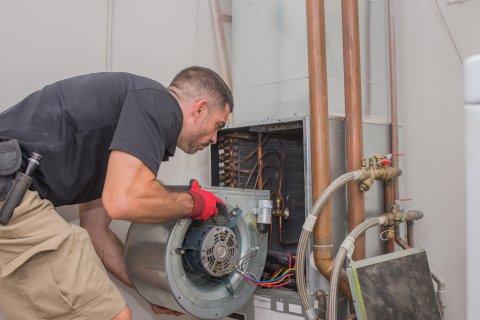 HVAC Technician doing install