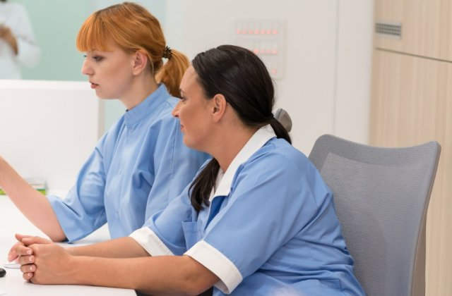 medical office administrative assistants at work