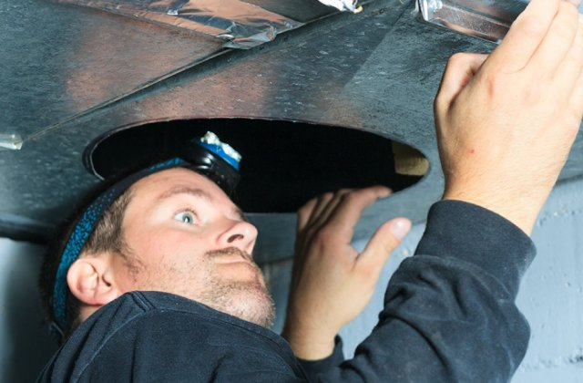 HVAC Technician doing install