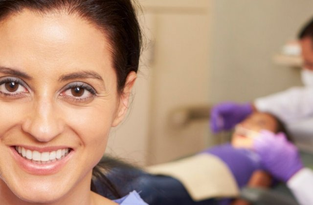 dental assistant in office