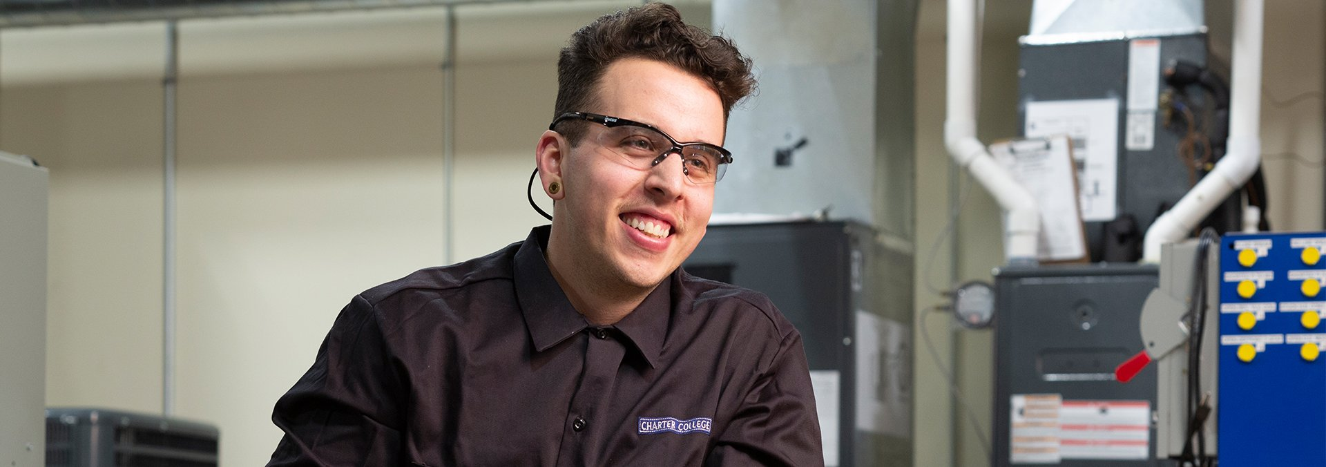 Aaron HVAC student