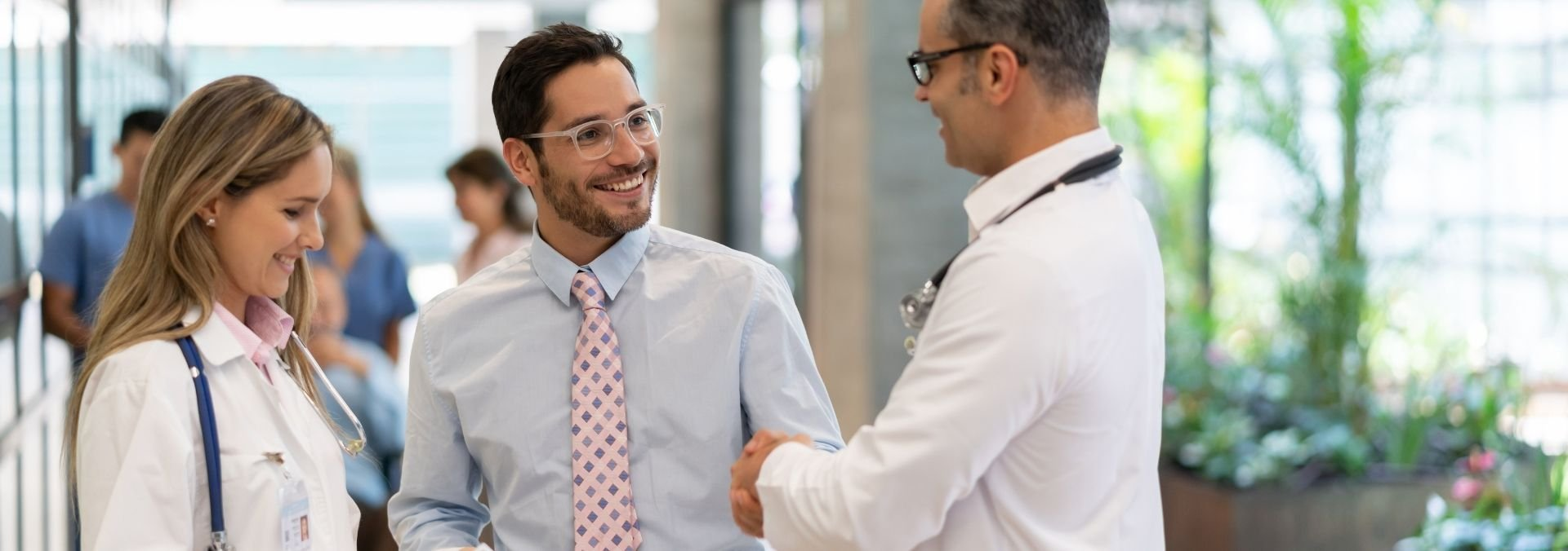 healthcare administrator with doctor