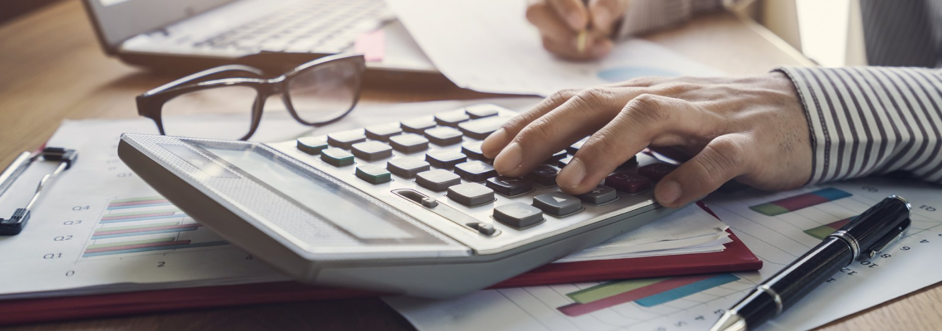 Woman Working on Budget