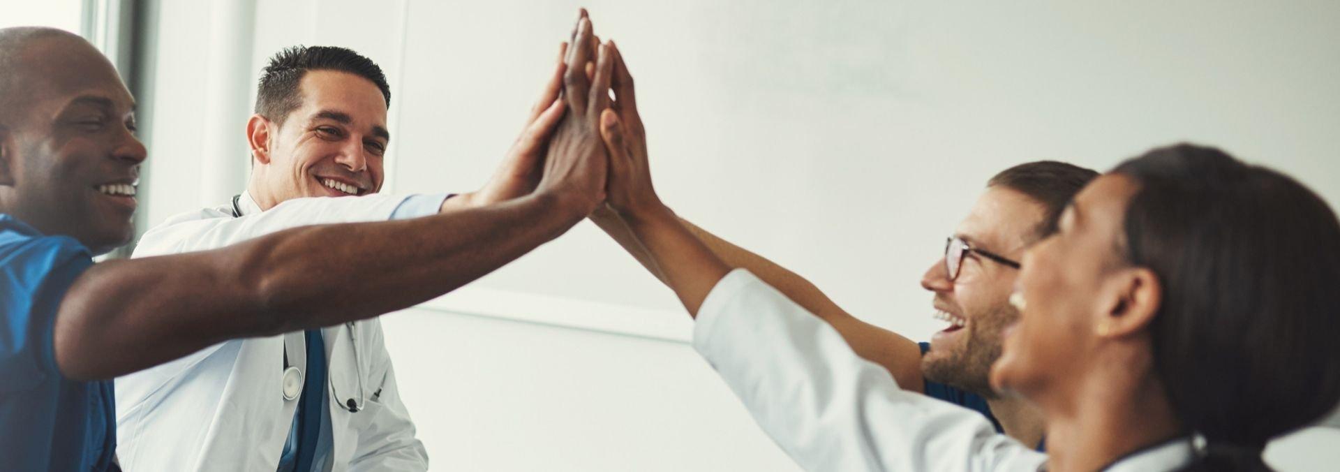 teamwork in healthcare office