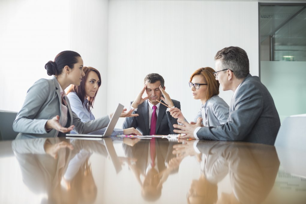 Leader Managing conflict in a boardroom
