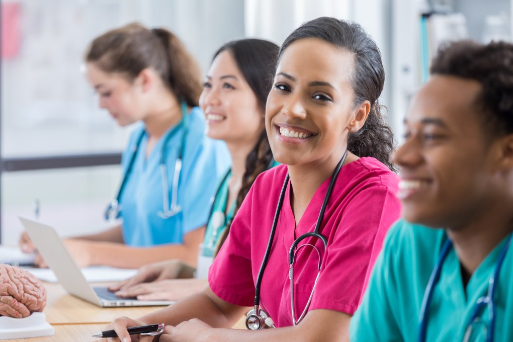 students taking the NCLEX exam for nursing