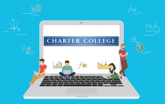 Online learning infographic from Charter College