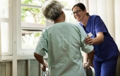 Student Helping elderly
